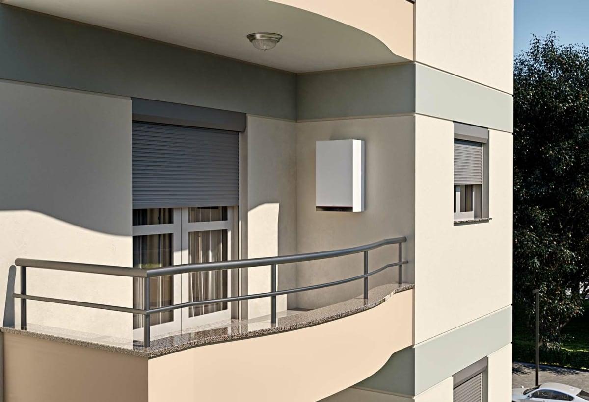 Vitodens 100-E balcone